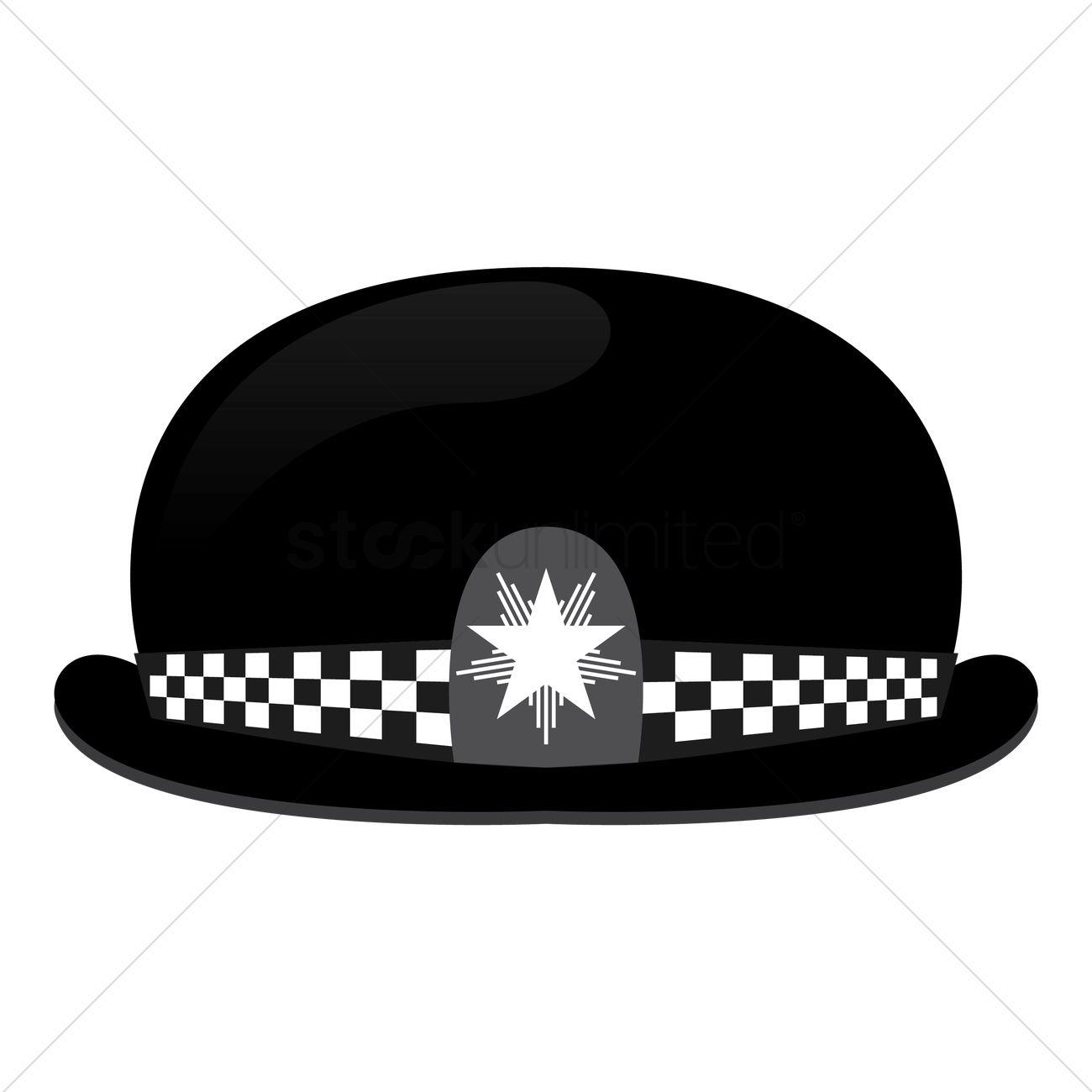 29363f709cc uk police hat vector graphic. Vector Illustration