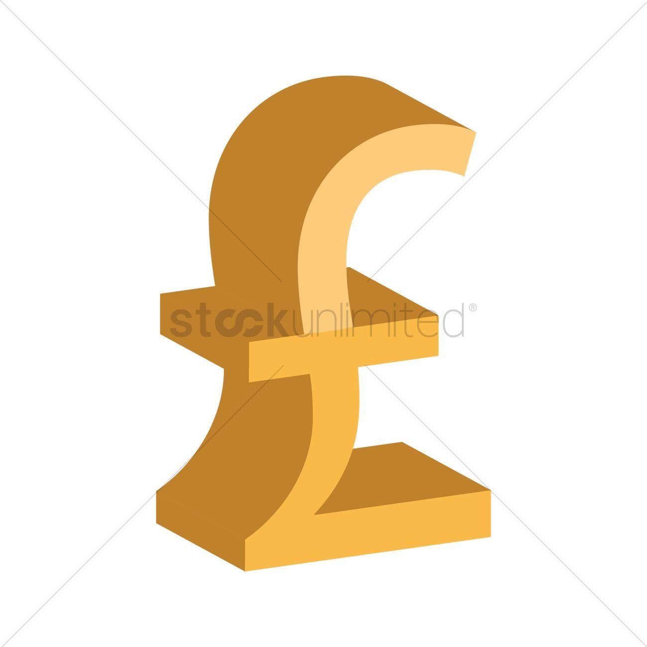 Uk Pound Sterling Symbol Vector Image 1866783 Stockunlimited