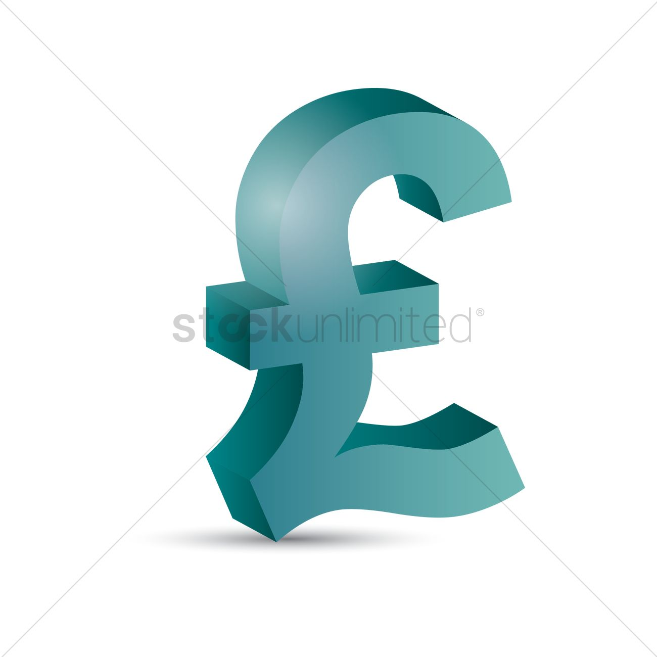Uk Pound Sterling Symbol Vector Image 1866859 Stockunlimited