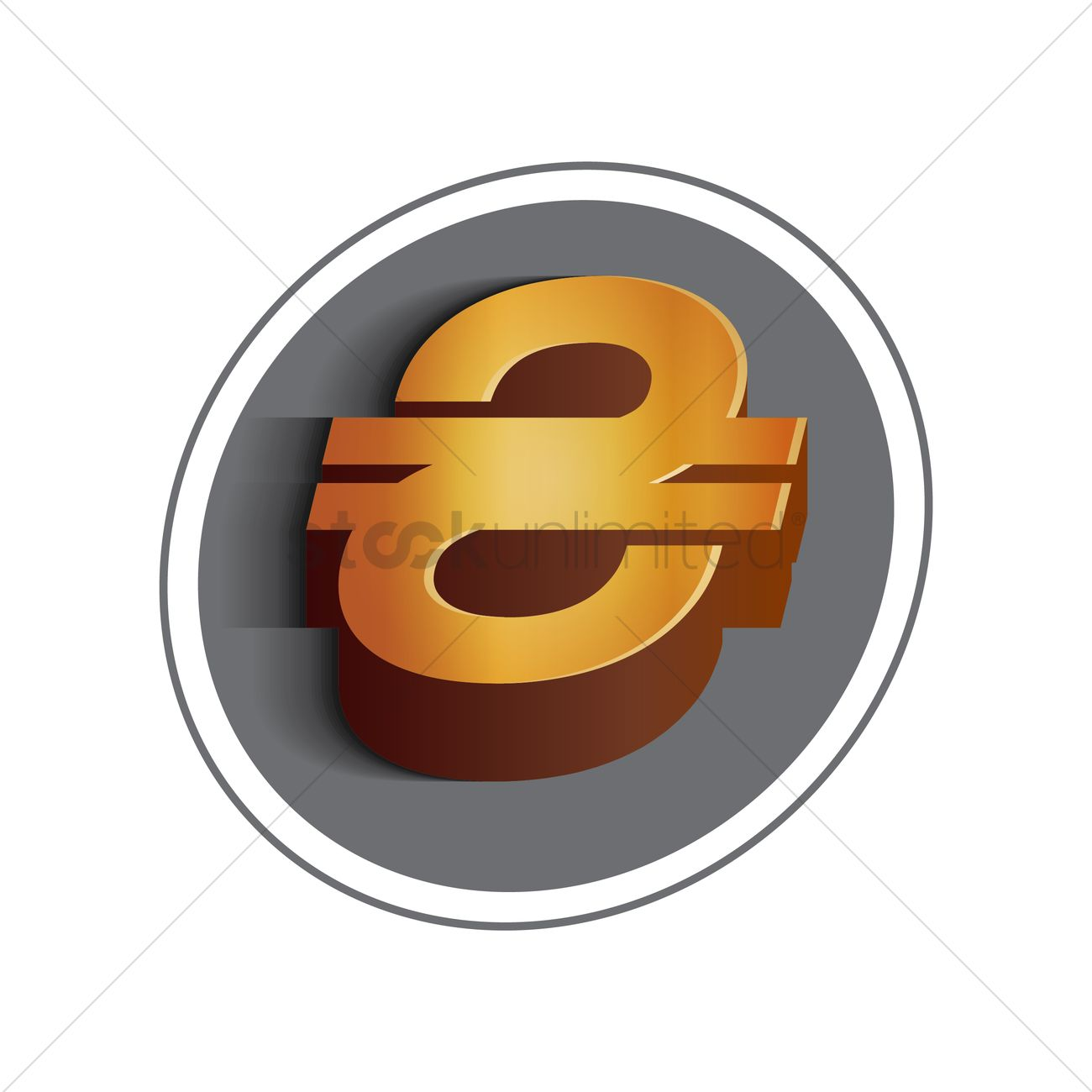 Ukrainian Hryvnia Currency Symbol Vector Image 1611903