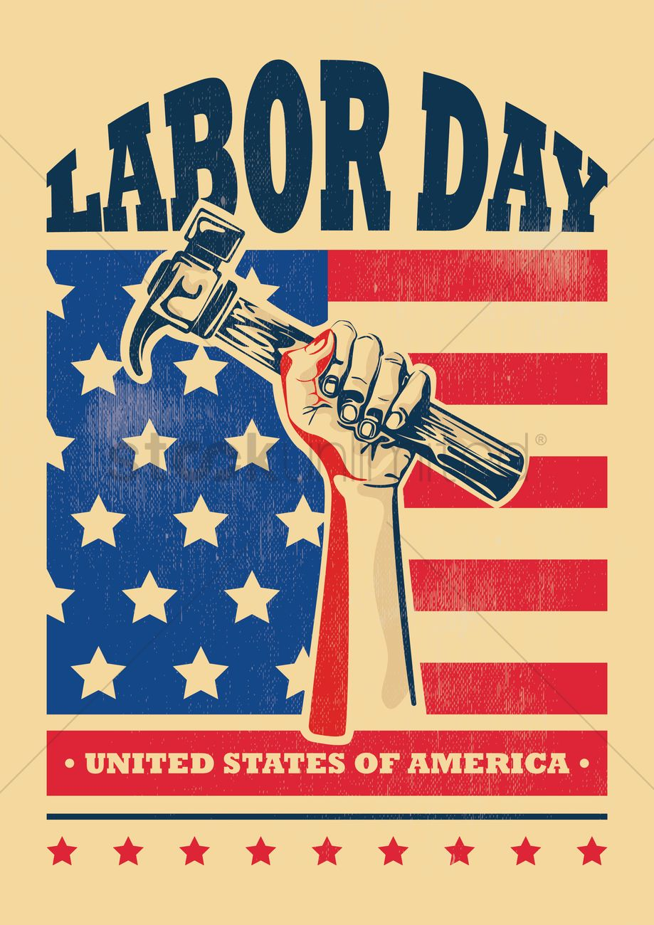 usa labor day poster vector graphic
