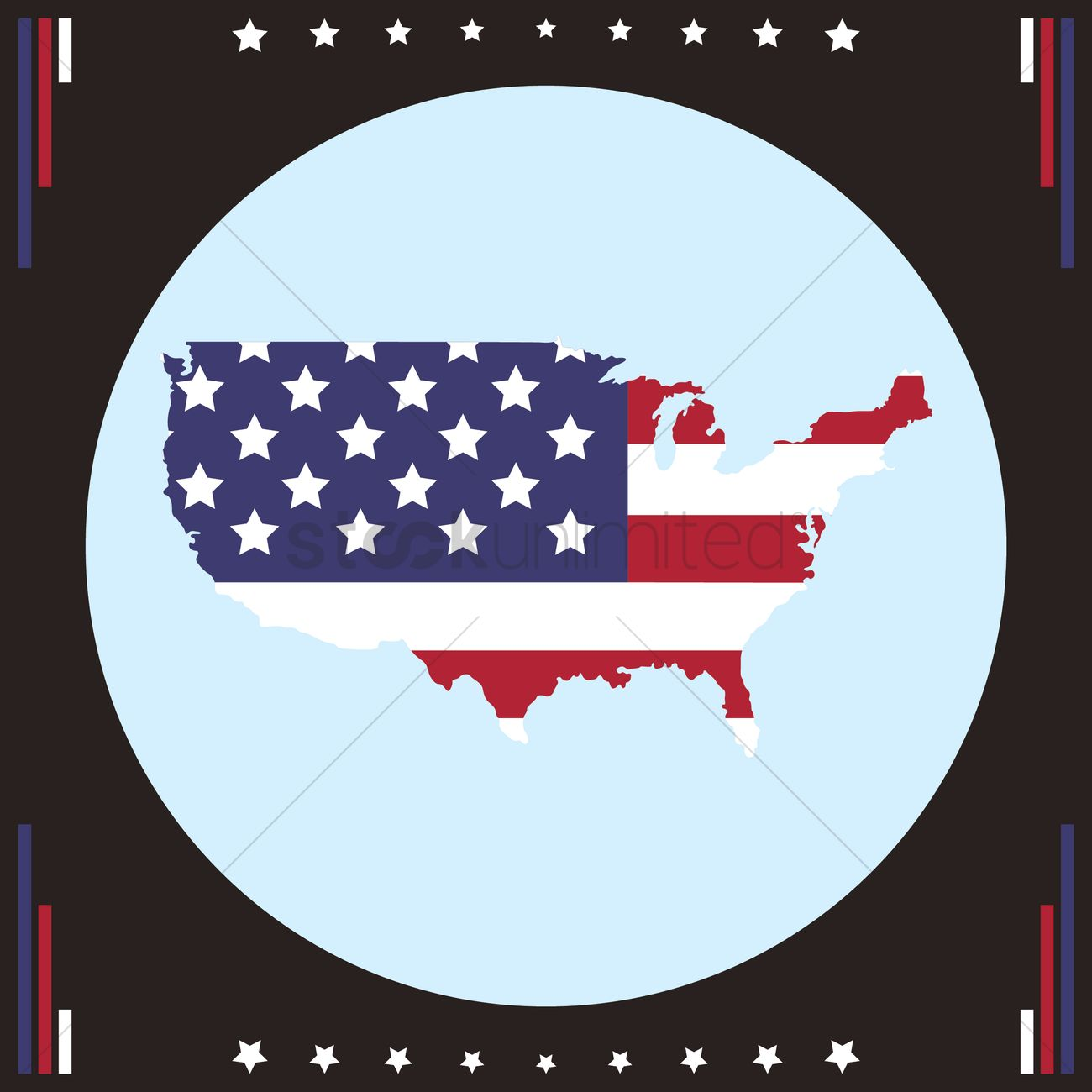 Usa map icon Vector Image - 1536151   StockUnlimited