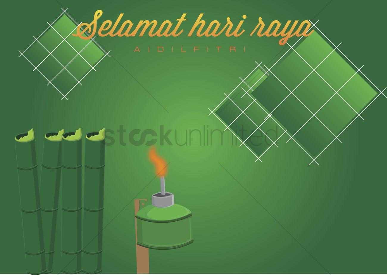 Vector Of Selamat Hari Raya Card Vector Image 1234711