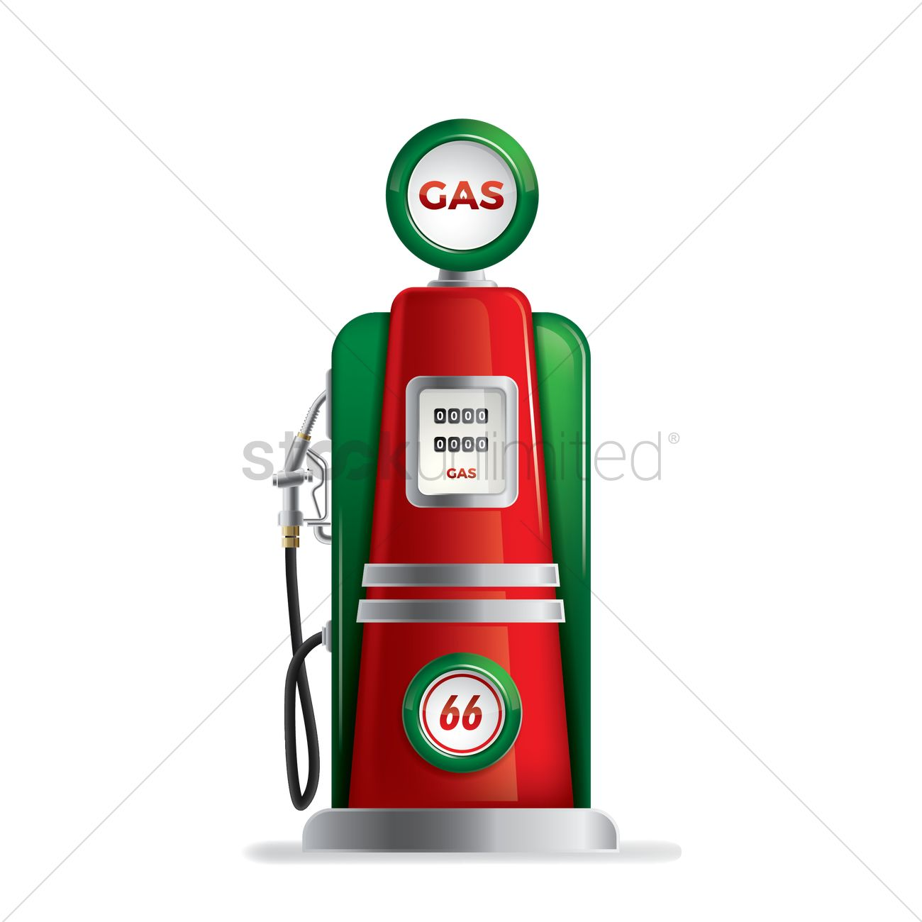 Vintage gas pump Vector Image - 1826483 | StockUnlimited