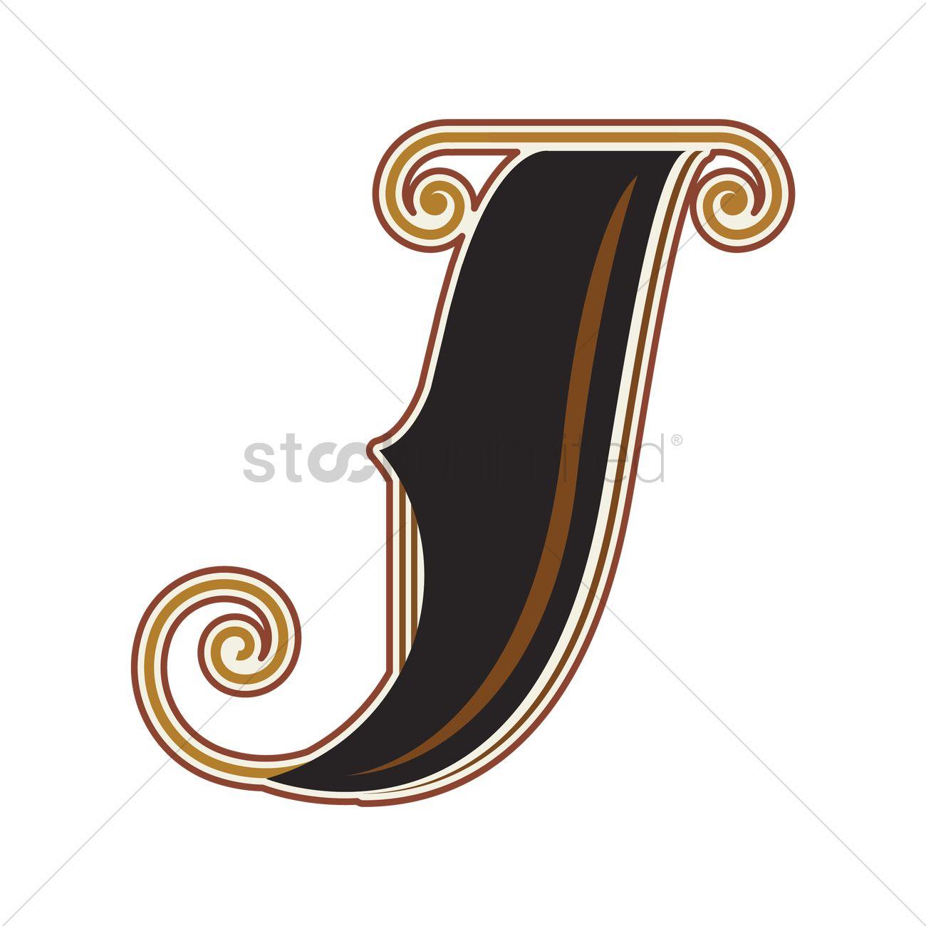 Vintage letter j