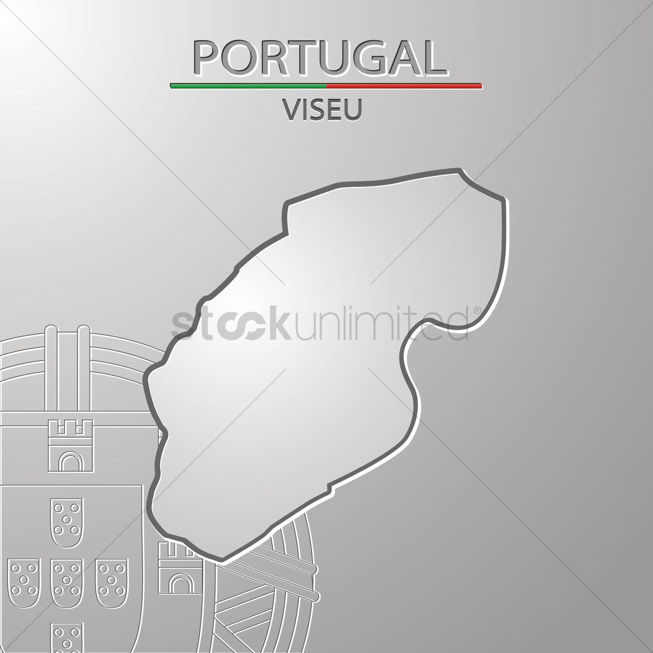 Viseu Map Vector Image StockUnlimited - Portugal map viseu