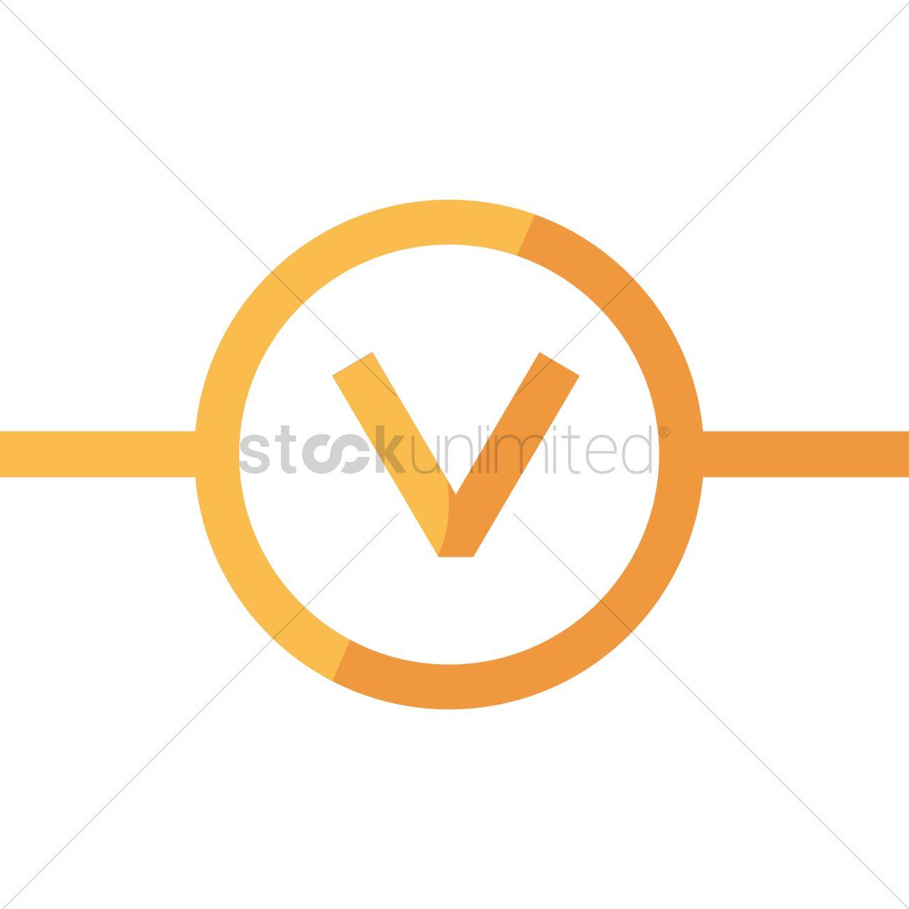 Voltmeter symbol Vector Image - 1352835   StockUnlimited