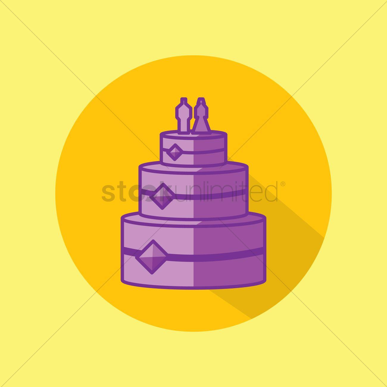 Wedding cake Vector Image - 1333335   StockUnlimited