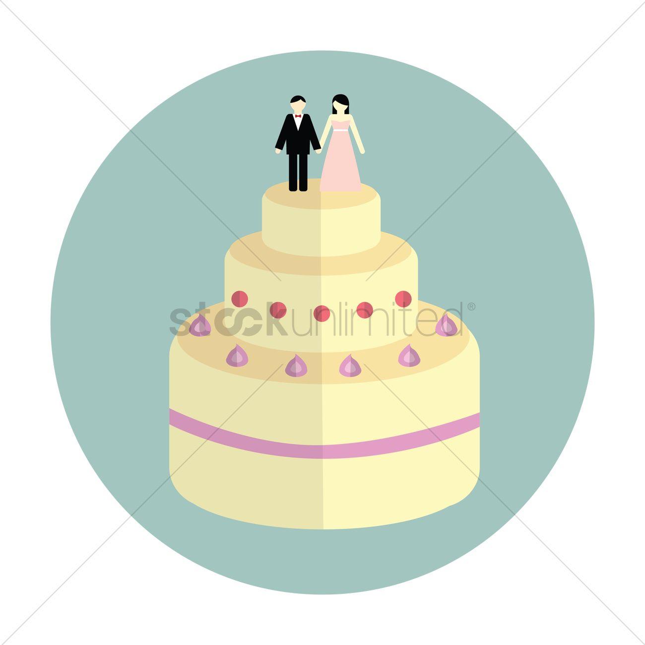Wedding cake Vector Image - 1375491 | StockUnlimited