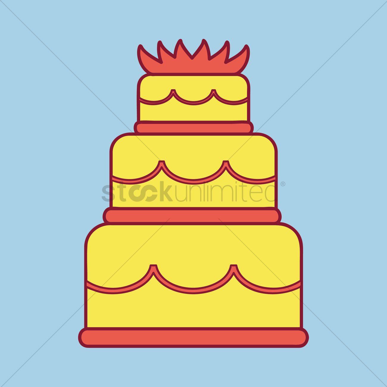 Wedding cake Vector Image - 1385243 | StockUnlimited