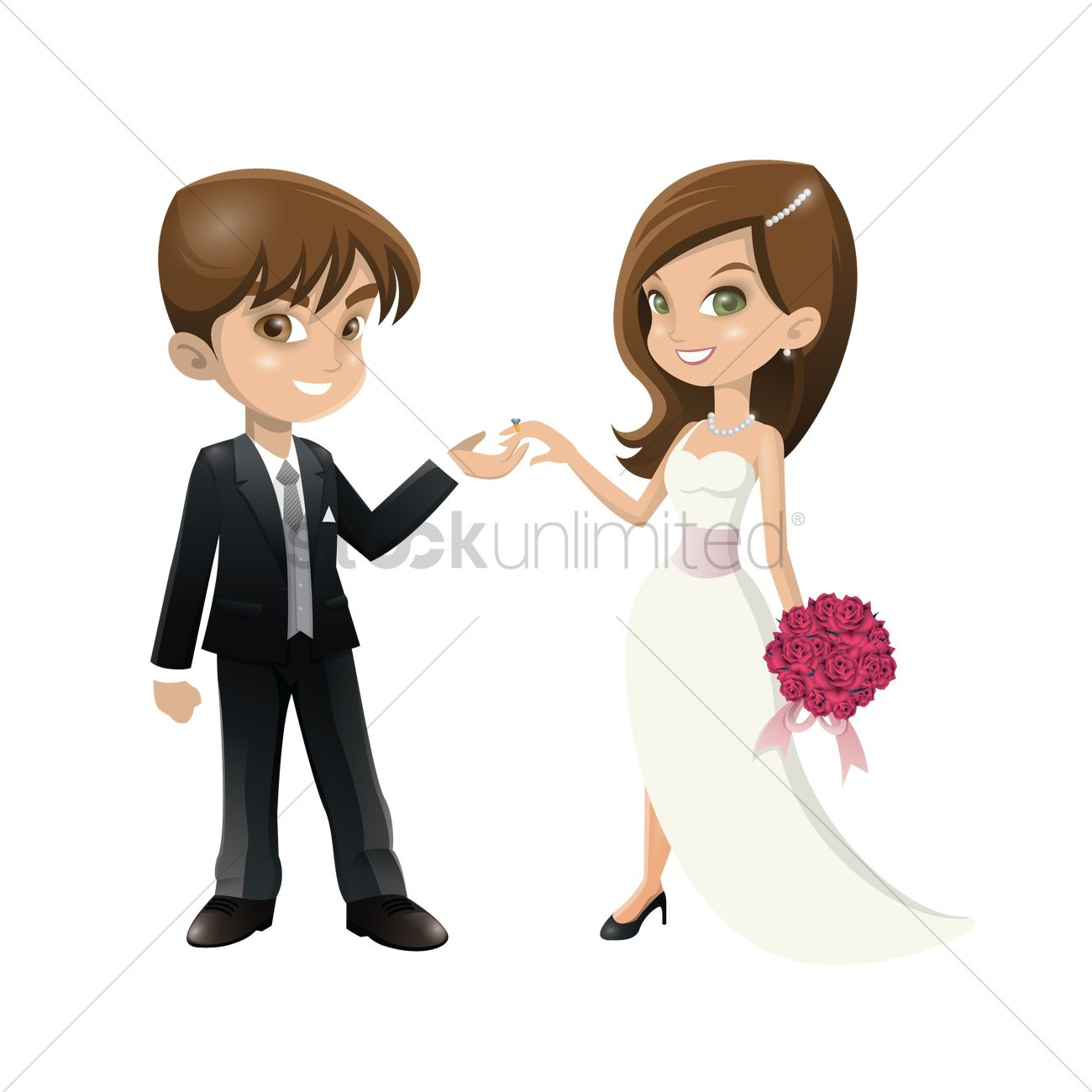 Wedding Couple Vector Image 1698983 Stockunlimited