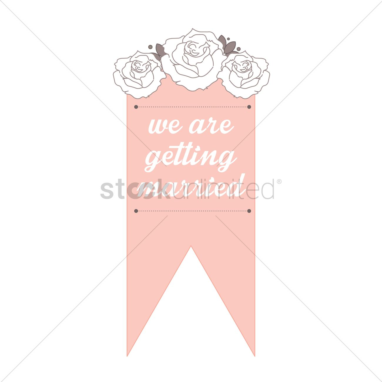 Wedding invitation banner Vector Image - 1789339 | StockUnlimited