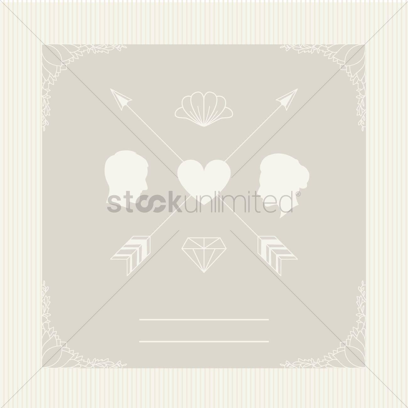 Wedding invitation card design Vector Image - 1992863 | StockUnlimited