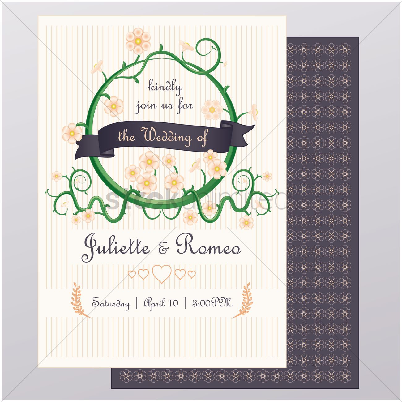 Wedding invitation card Vector Image - 1821695 | StockUnlimited
