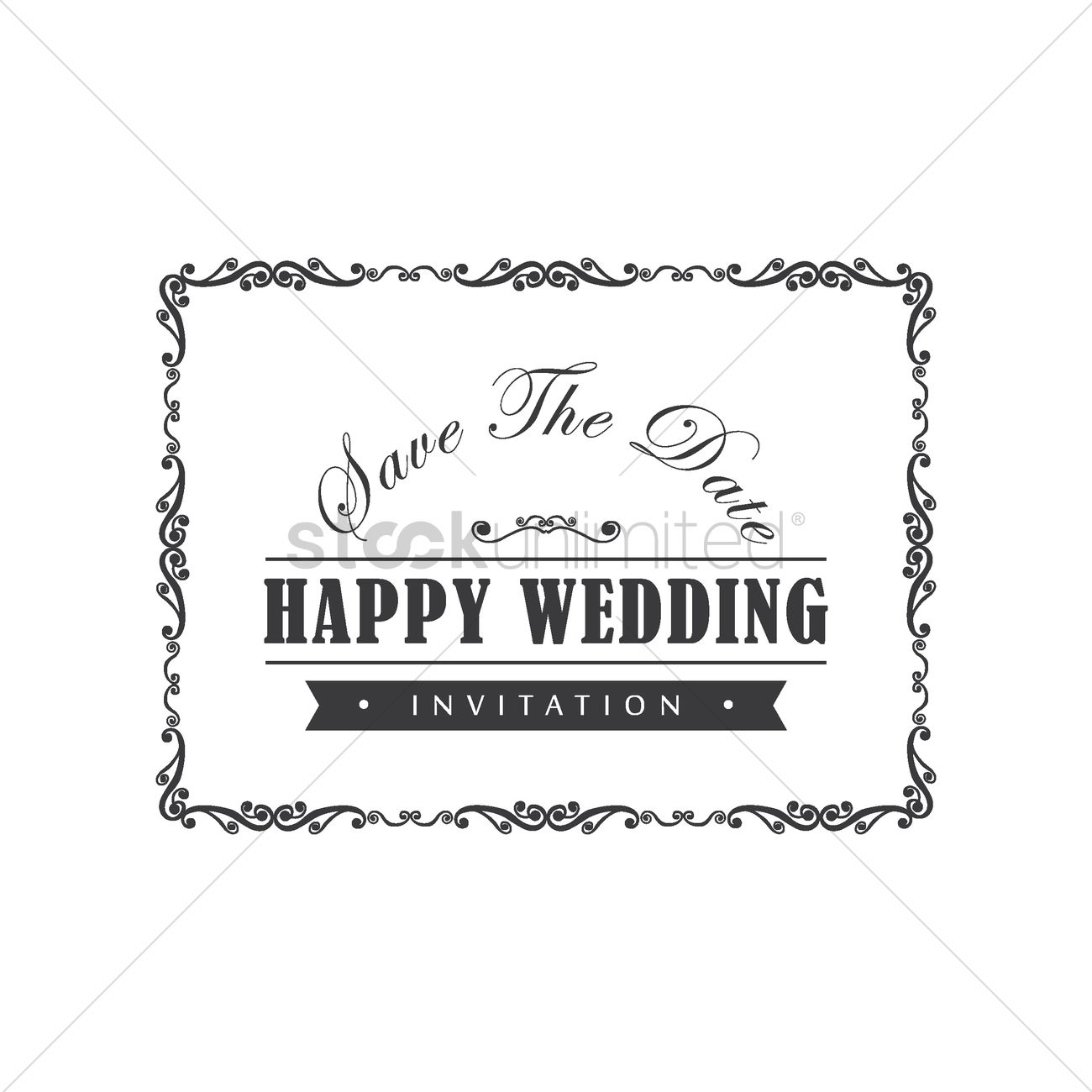 Wedding invitation Vector Image - 1800107 | StockUnlimited