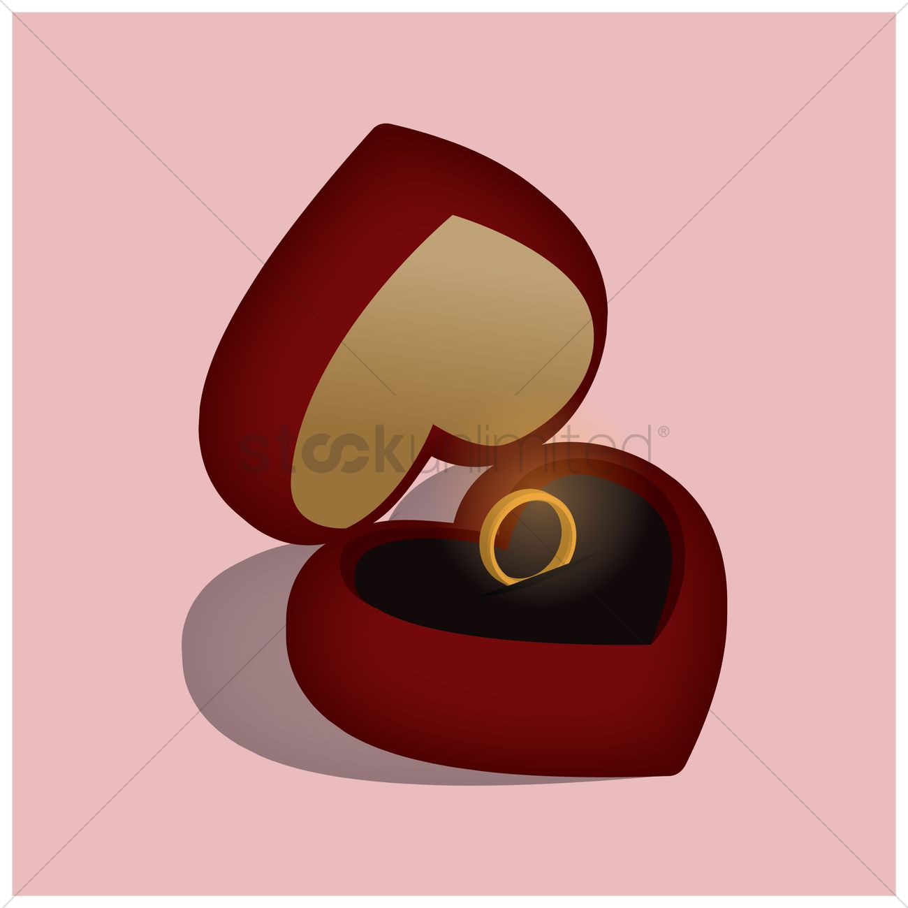 Wedding ring in gift box Vector Image - 1433267 | StockUnlimited