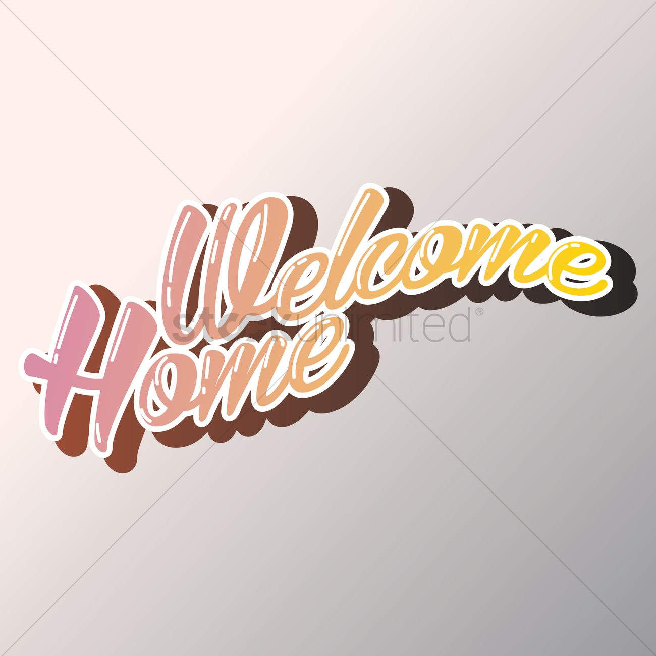 Welcome home greeting vector image 1811271 stockunlimited welcome home greeting vector graphic m4hsunfo