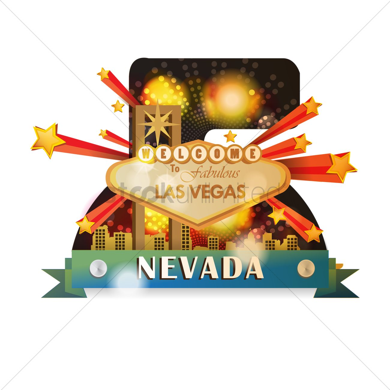 welcome to fabulous las vegas vector graphic