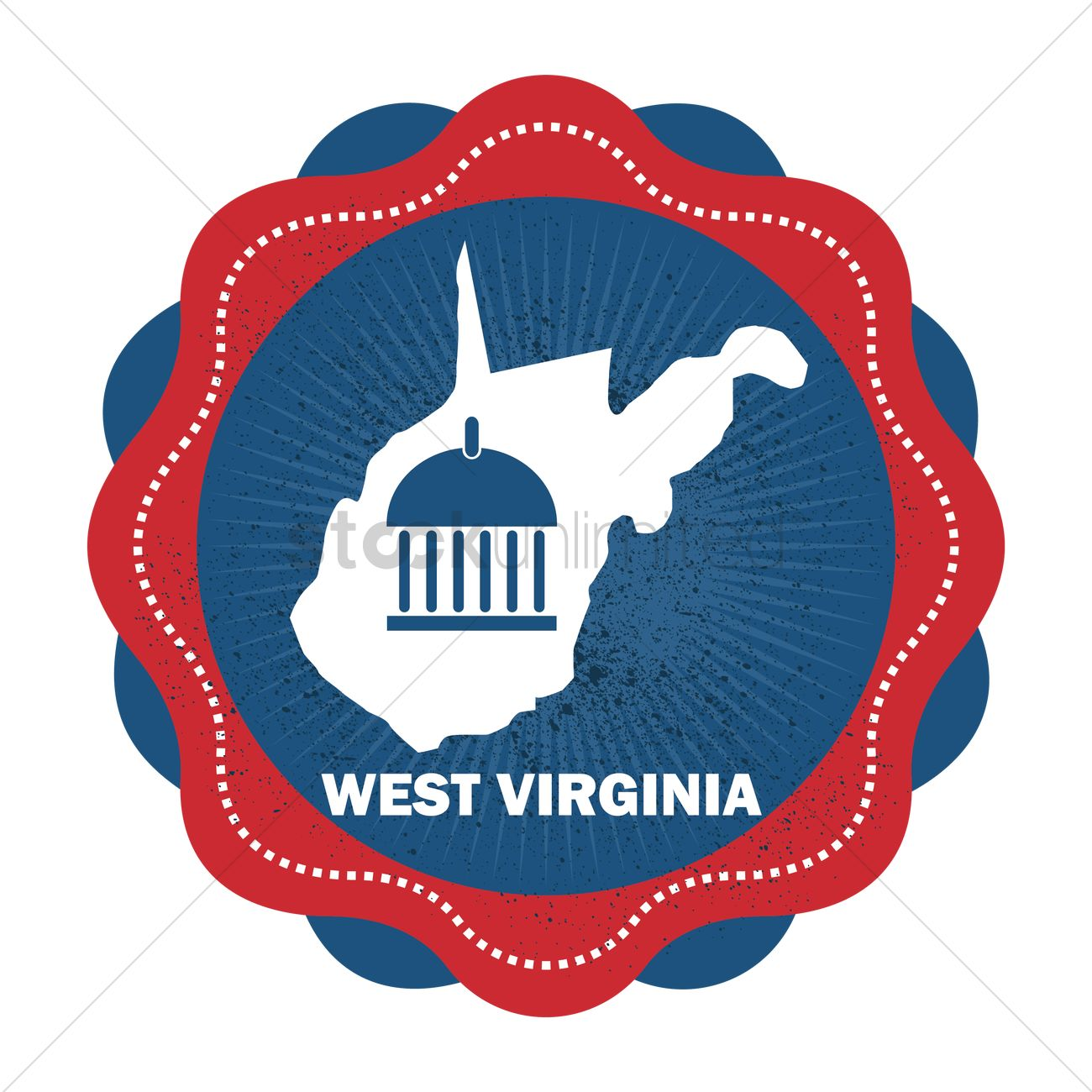 West Virginia State Map Vector Image 1564367 Stockunlimited