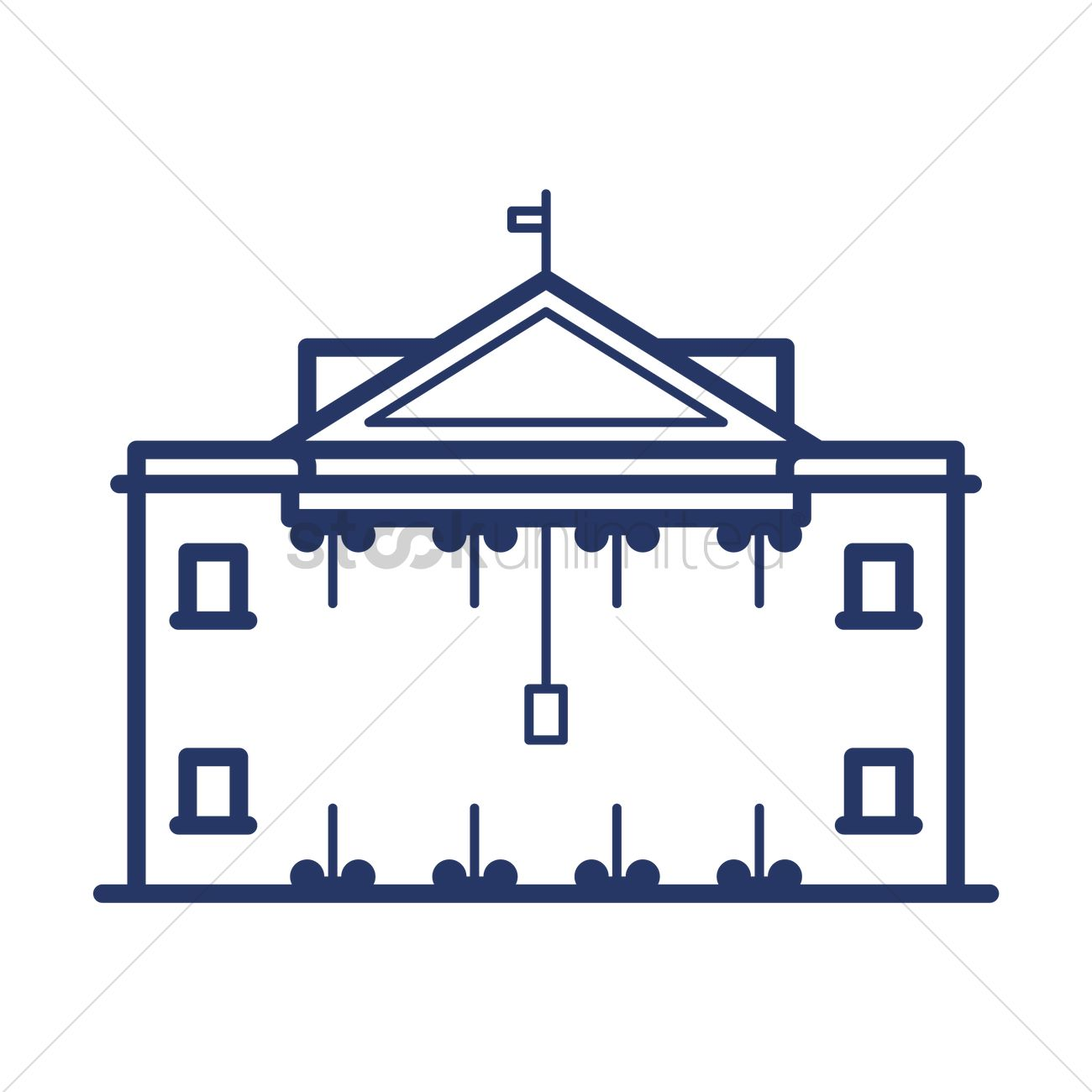 white house vector image 1557991 stockunlimited rh stockunlimited com white house victory garden 2017 white house vector free