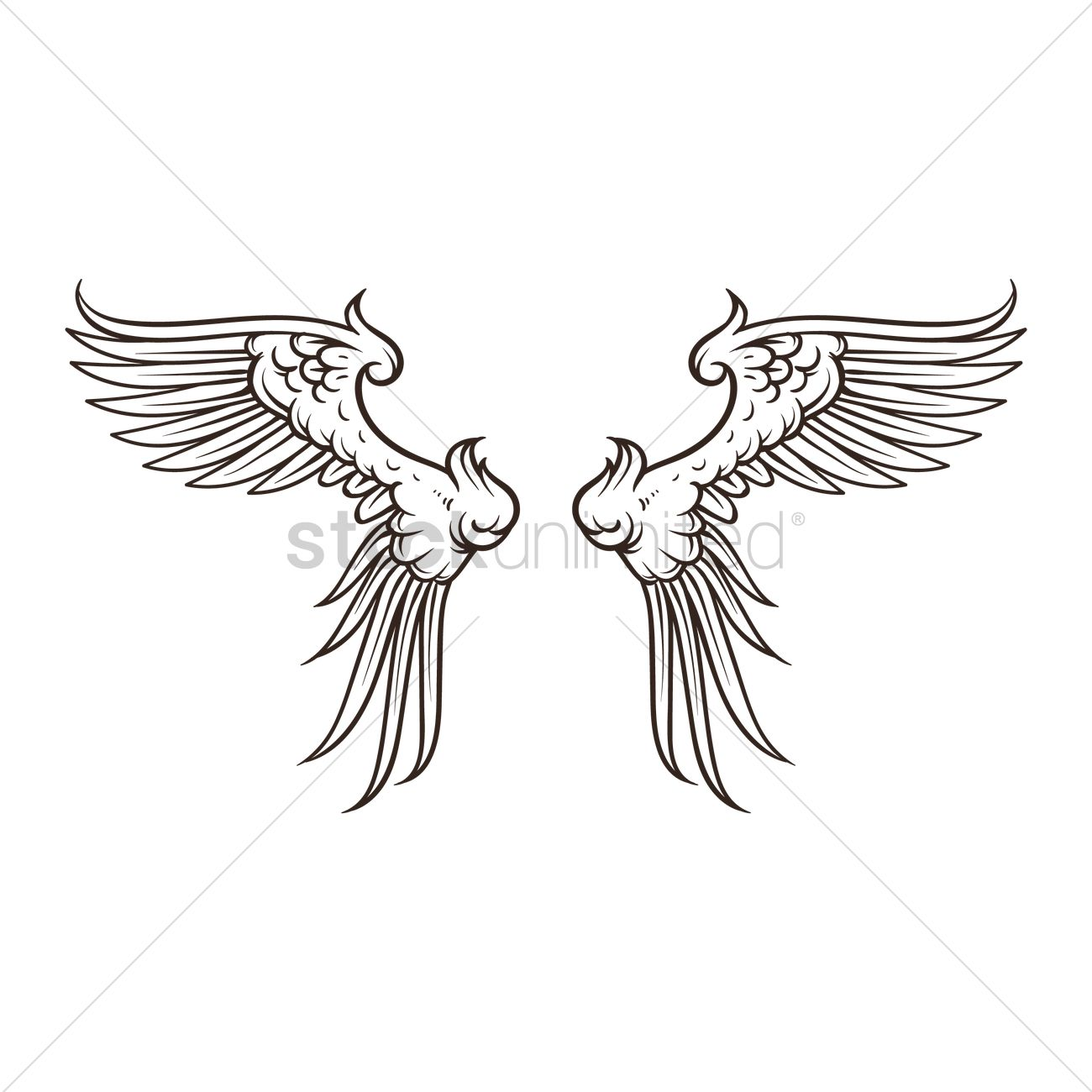 38edeafc Wings design Vector Image - 1873131 | StockUnlimited