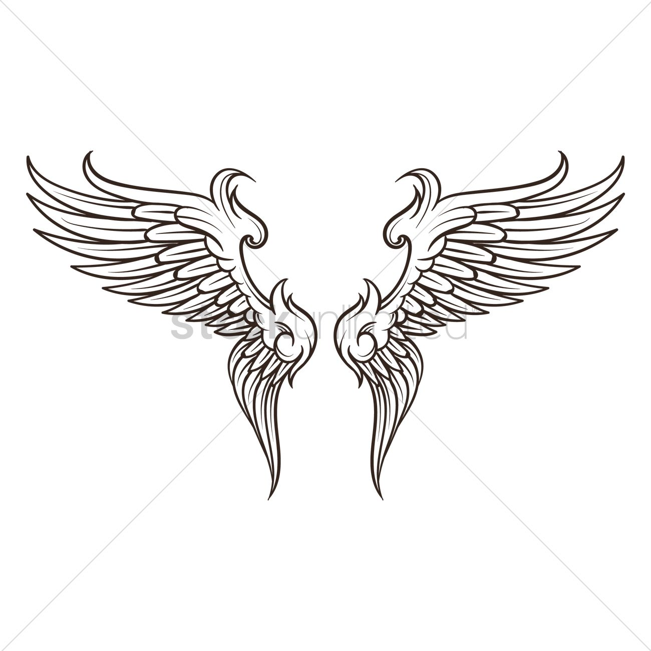 98d12fe4 Wings design Vector Image - 1873139 | StockUnlimited