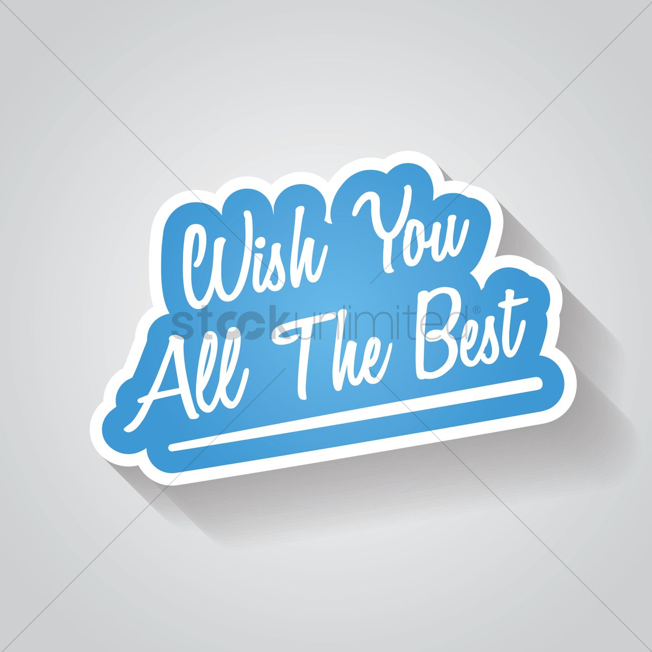 Wish you all the best sign vector image 1827951 for All the very best images