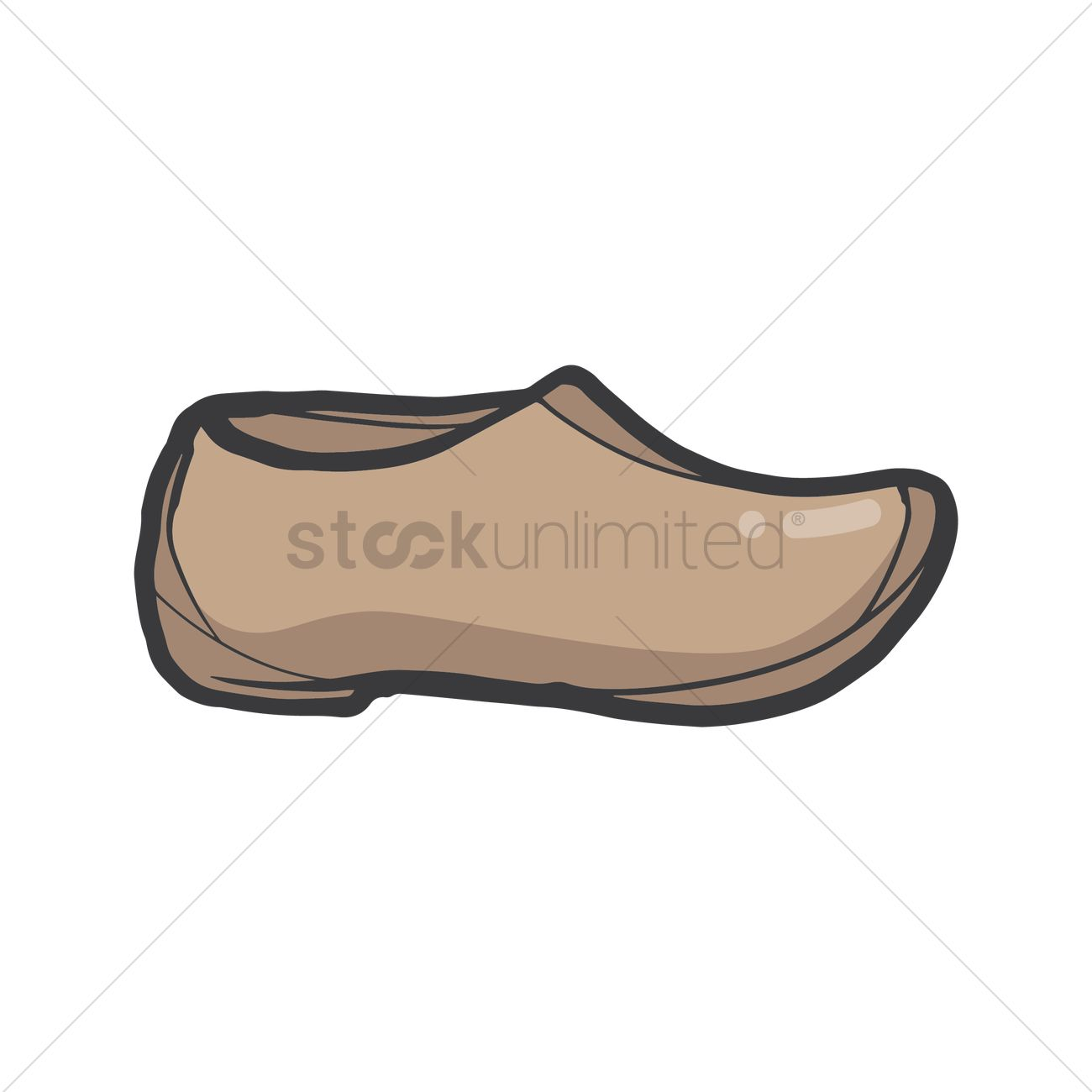 23fbafb067 Wooden clogs Vector Image - 2014475