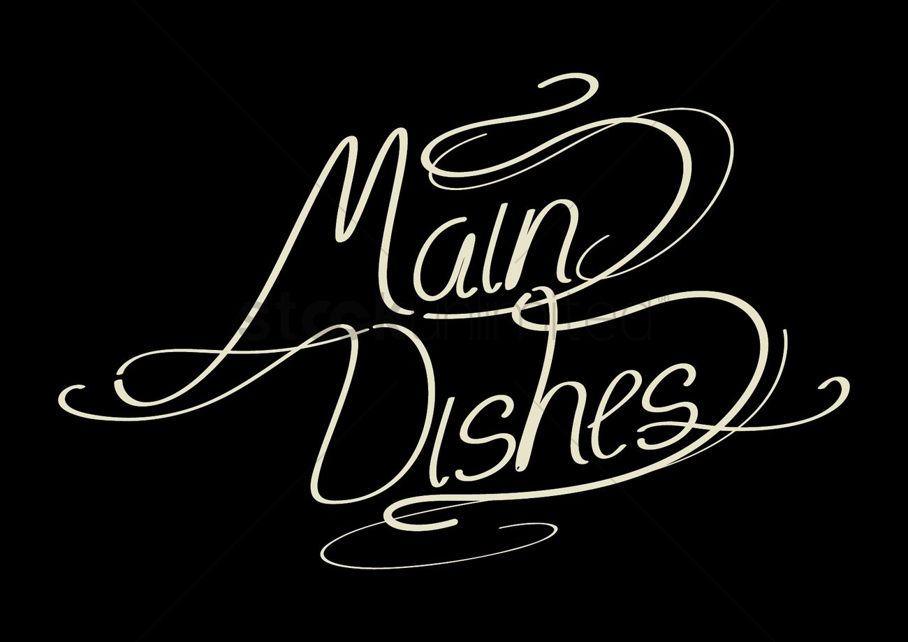 word main dishes vector image 1531243 stockunlimited Uni Words word main dishes vector graphic