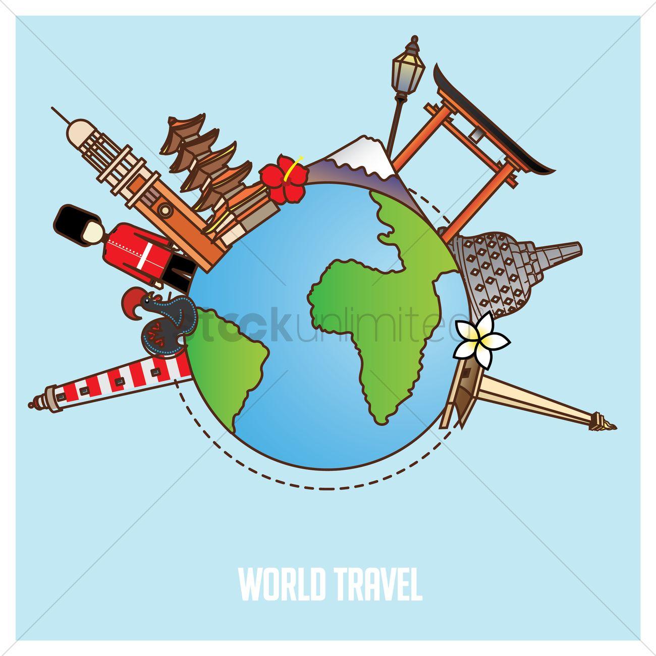 Travel The World Clip Art