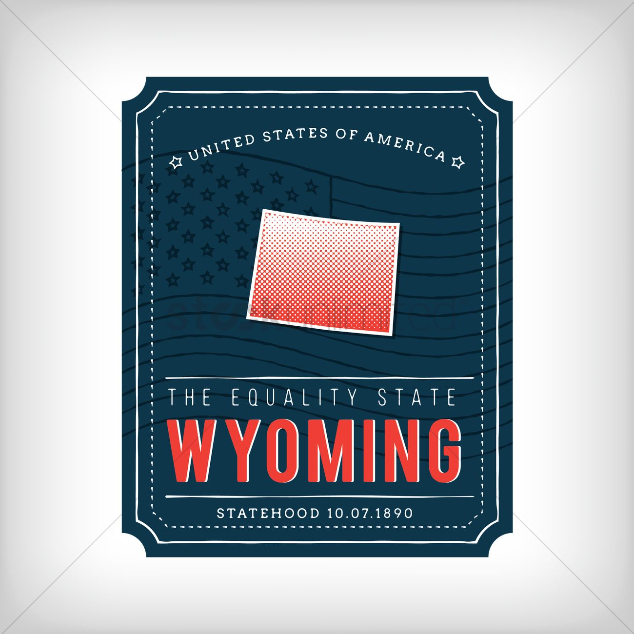 Wyoming map Vector Image - 1623703 | StockUnlimited on