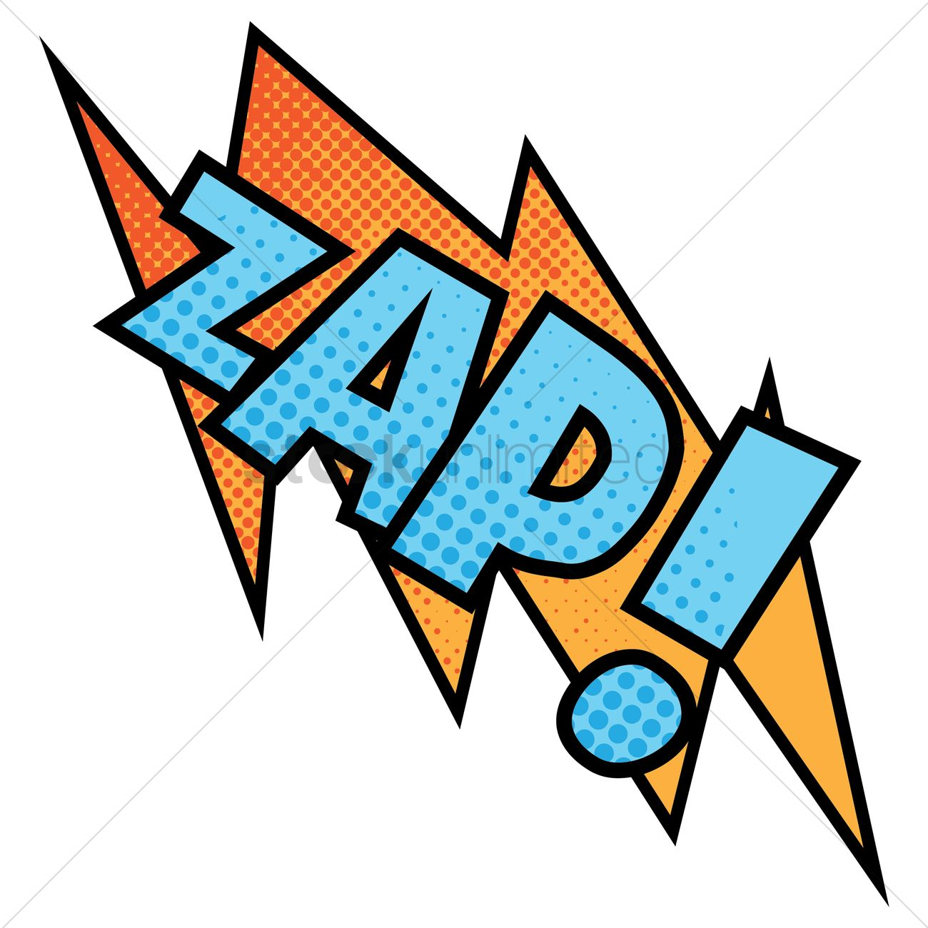 Zap Text With Comic Effect Vector Image