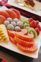 A variation of fruits in a plate