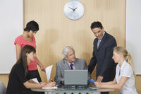 Business people having meeting in conference room