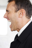 Popular : Businessman screaming