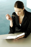 Popular : Businesswoman thinking