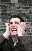 Popular : Frustrated businessman screaming
