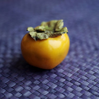 High angle close-up of persimmon