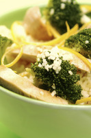 Risotto with chicken and broccoli