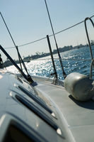 Starboard on sailboat
