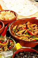 Stir fried mexican chicken with pepper strips