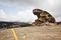 Toad rock on a hill  mount abu  sirohi district  rajasthan  india