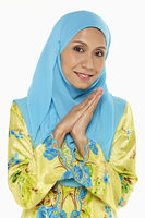 Popular : Woman in malay traditional clothing  smiling