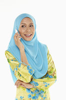 Popular : Woman talking on mobile phone