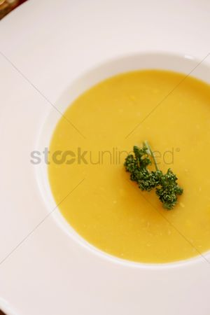 Ready to eat : A bowl of pumpkin soup