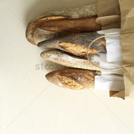 Food  beverage : A full bag of bread