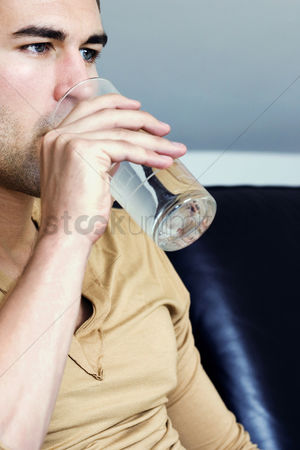 Wondering : A man drinking water