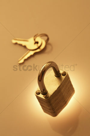 Forbidden : A padlock and a set of keys