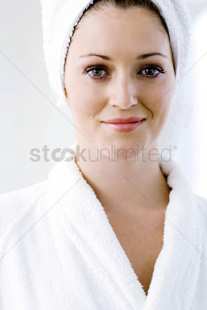 Adulthood : A portrait of a young lady in bath robe