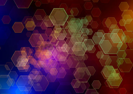 Hexagon : Abstract bokeh background design